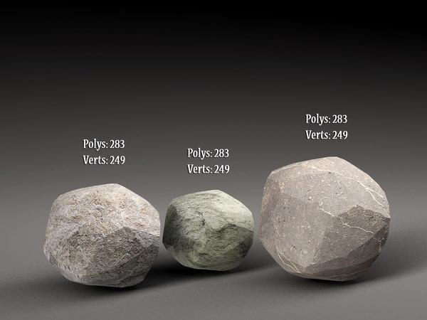 stones games 3D model