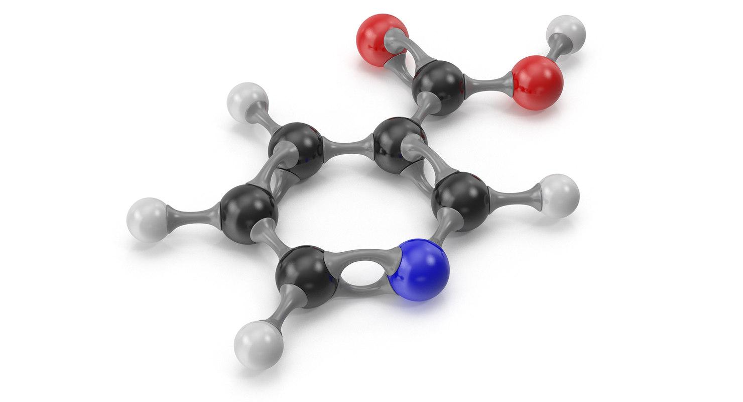 niacin molecular 3D