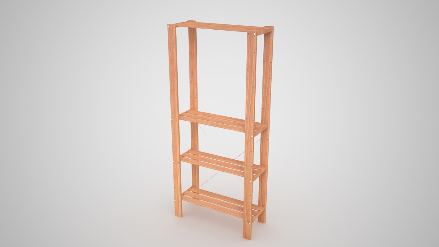 ikea hejne wood 3D model