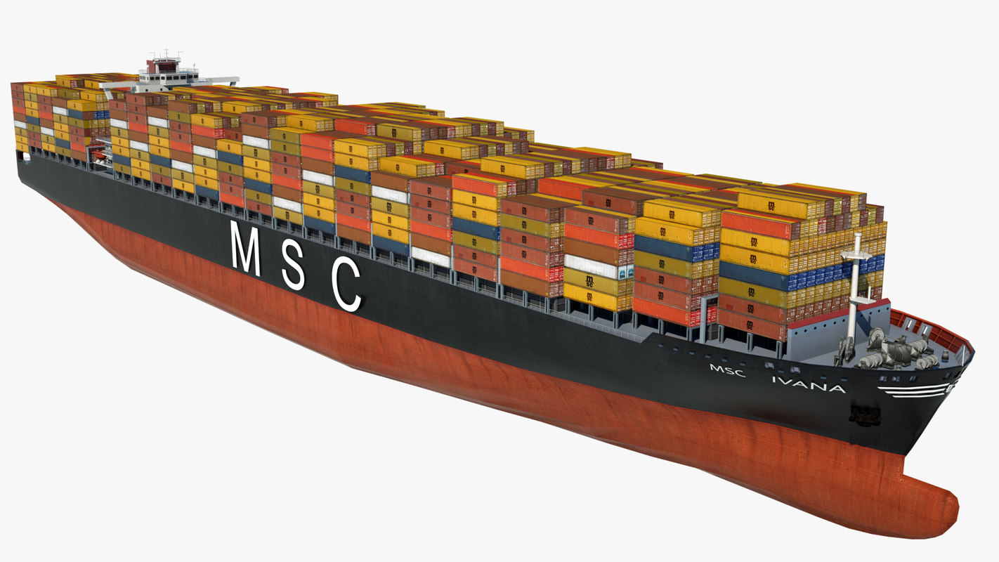 3D container ship msc ivana