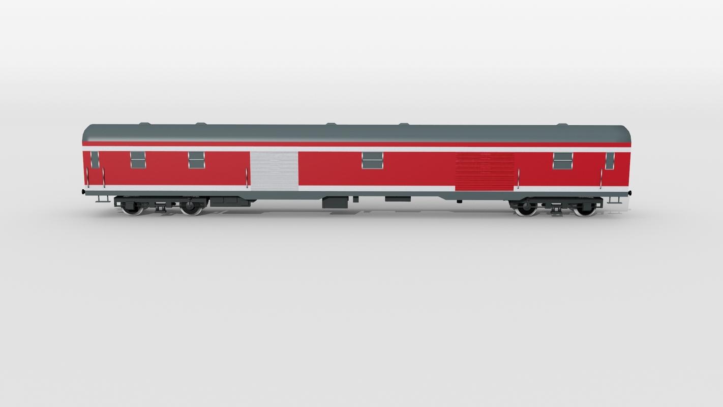 german baggage railcar 3D model