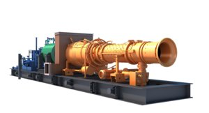 3D model gas turbine unit