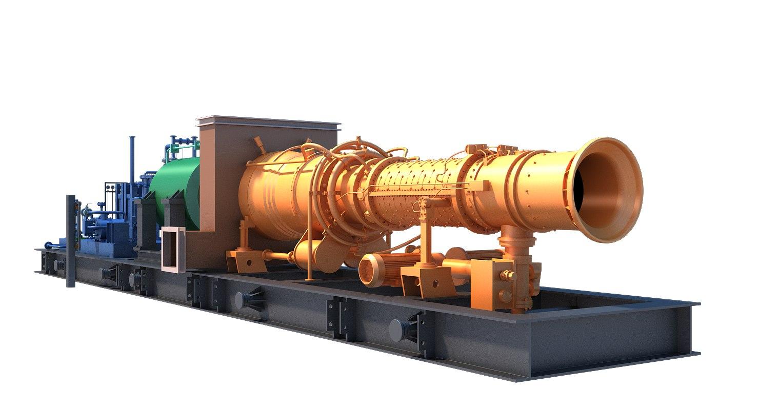 3D model gas turbine unit