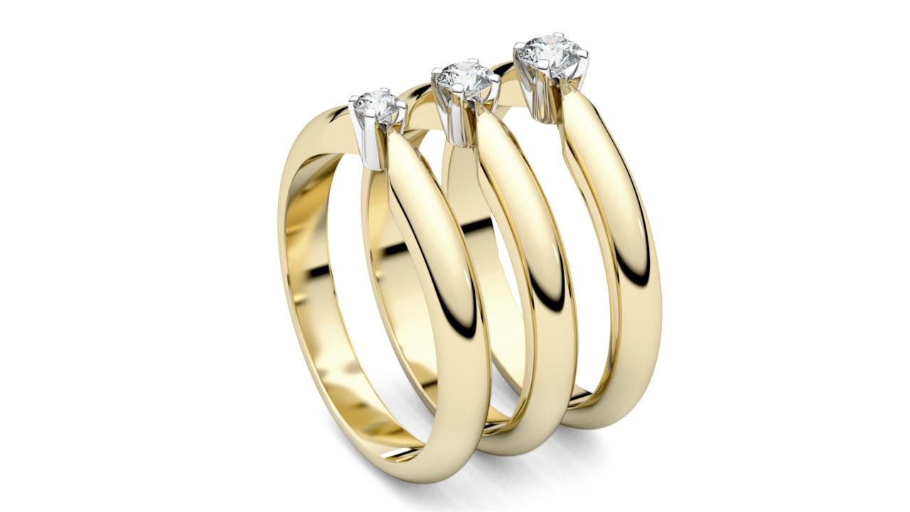 print solitaire rings 3D model