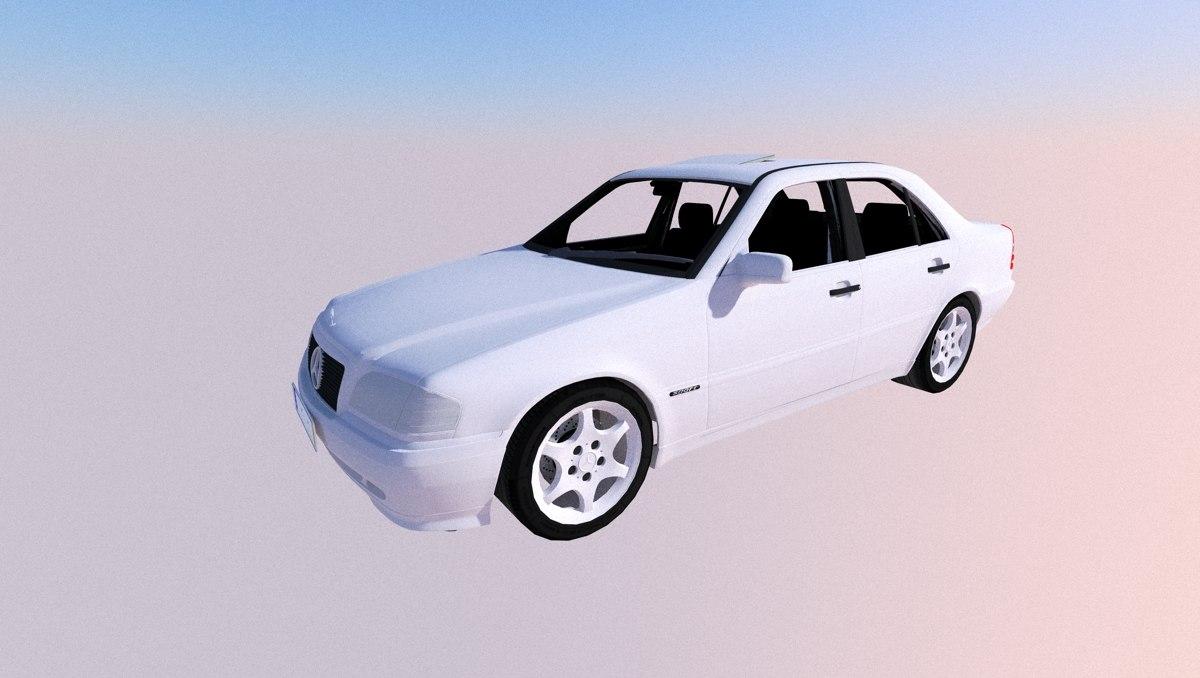 3D model w202 c-class