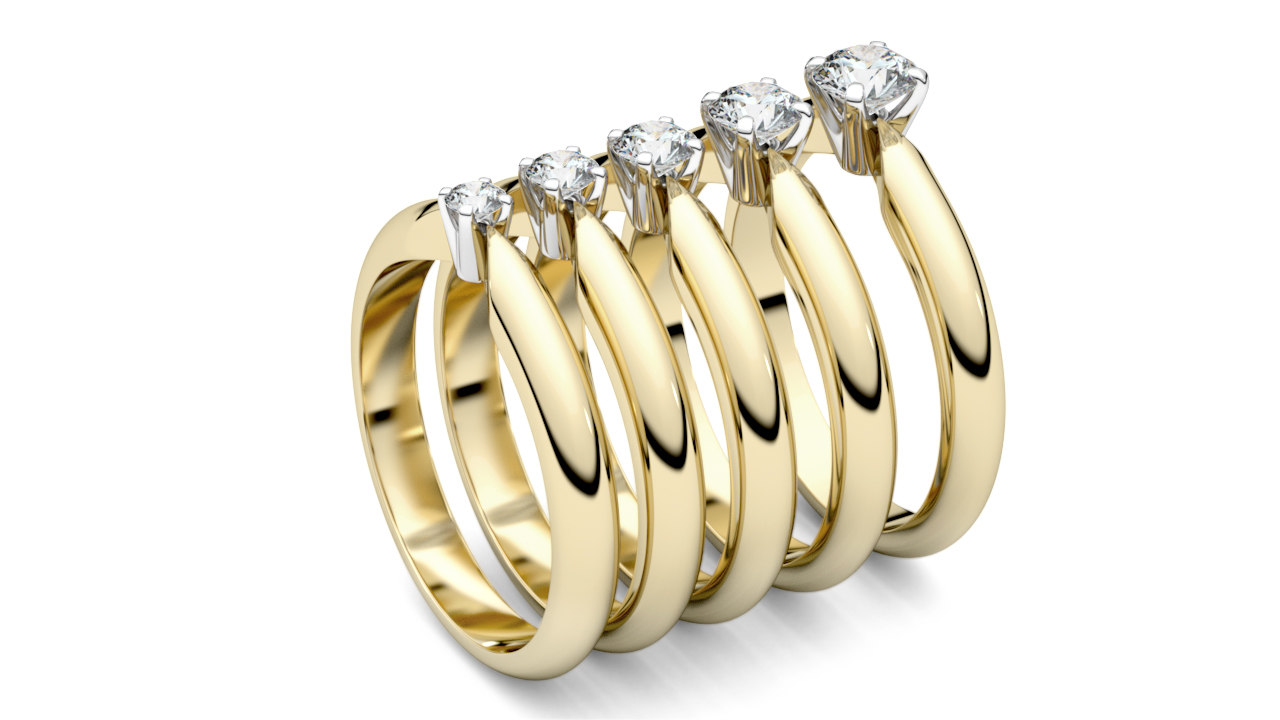 3D model print solitaire rings