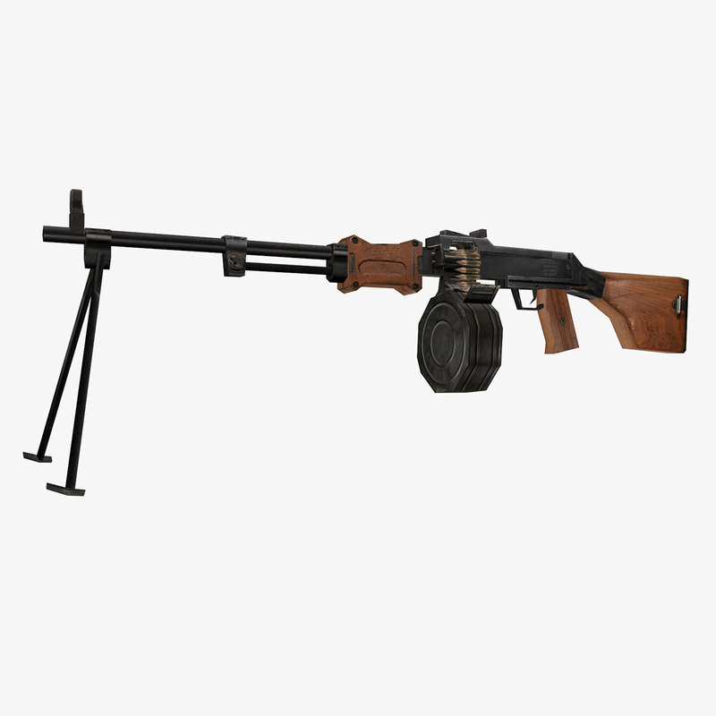 degtyaryov machine gun dp 3D