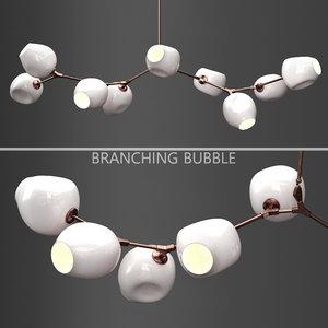 3D branching bubble 9 lamps model
