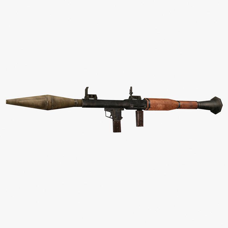 3D anti-tank grenade launcher model