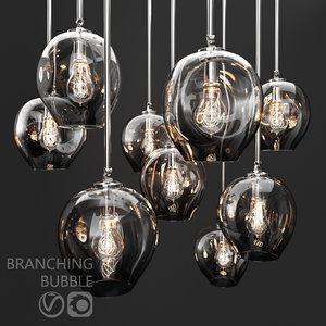 branching bubble 1 lamp 3D