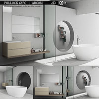 3D model bathroom furniture set arcom