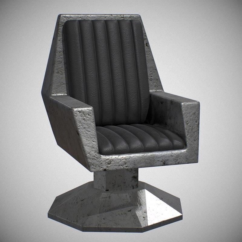 sci fi chair seat model