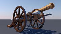 3D model canon louis xiv