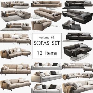 poliform 12 sofa set 3D model