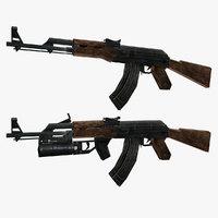 ak-47 gun 47 3D