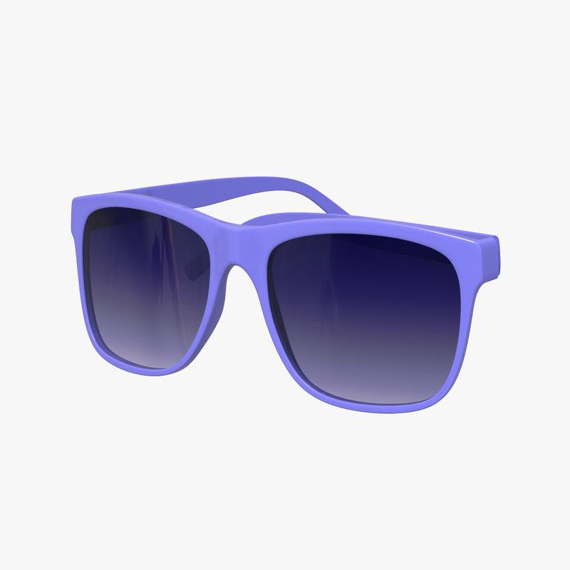 3D blue glasses