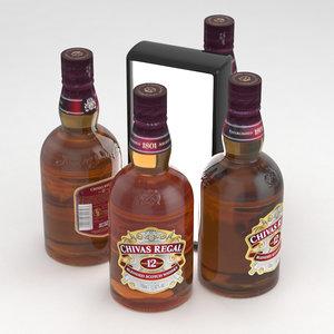 3D scotch whisky chivas model