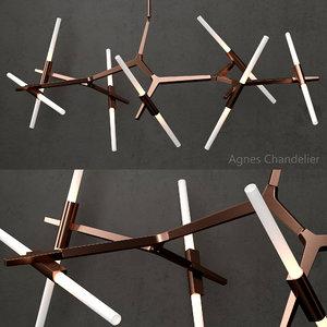 chandelier 14 bulb copper model