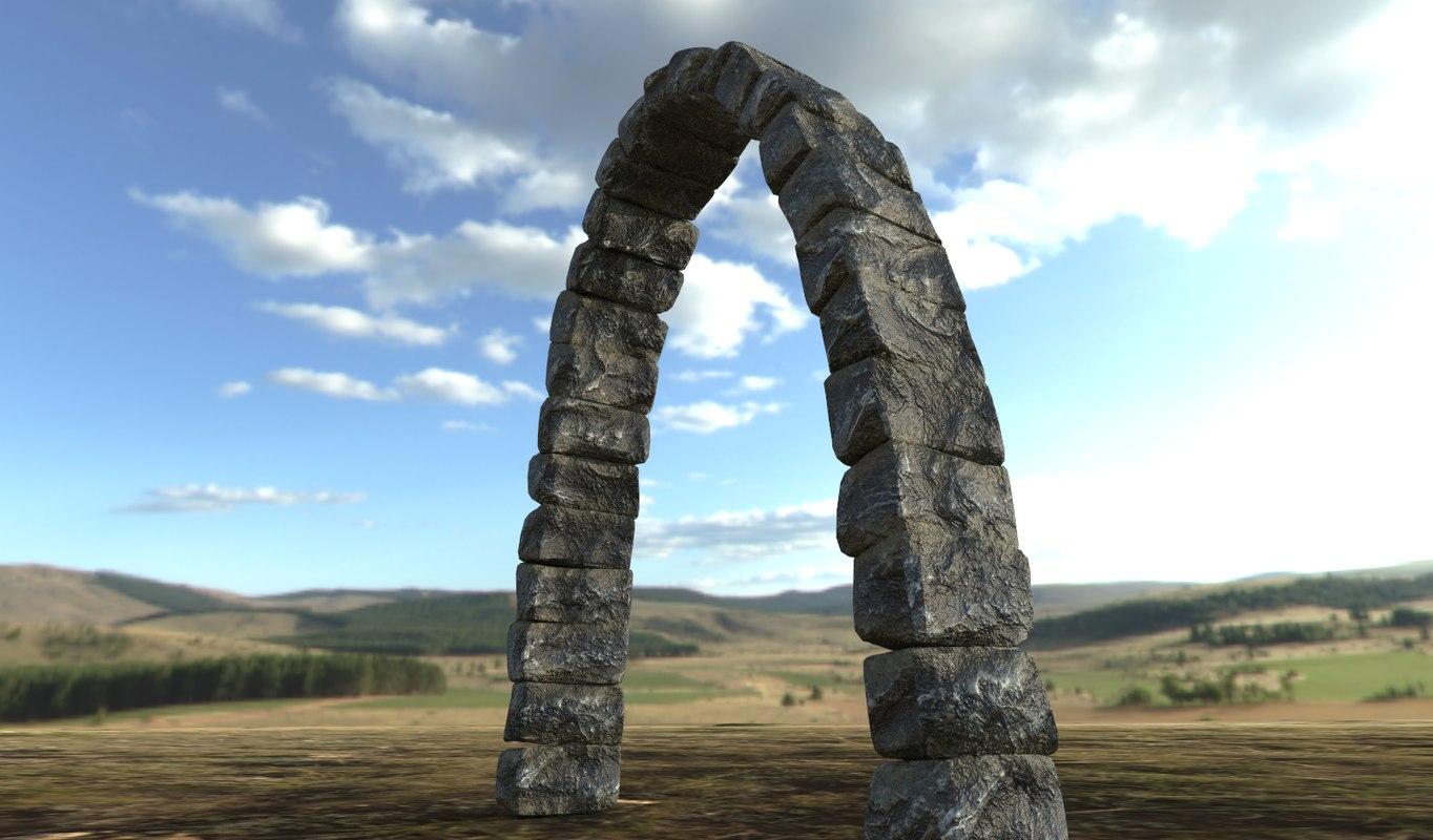 stone rock arch 3D model