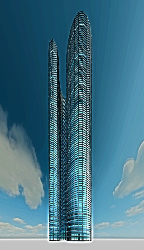3D skyscraper luxury