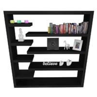 Modern Book Shelf & Items