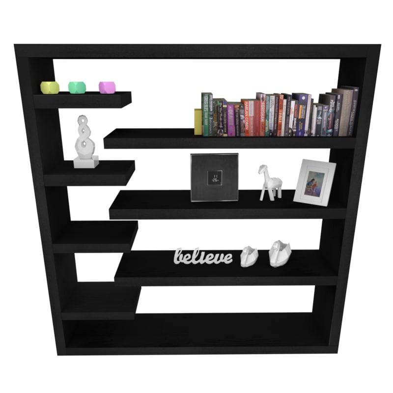 black bookshelf shelf 3D