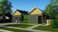 inner courtyard house 3D model