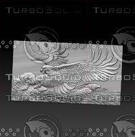 3D eagle sea
