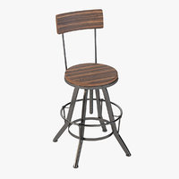 barstool chair 3D