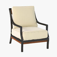 3D model seating armchair