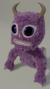 3D shocked monster toy