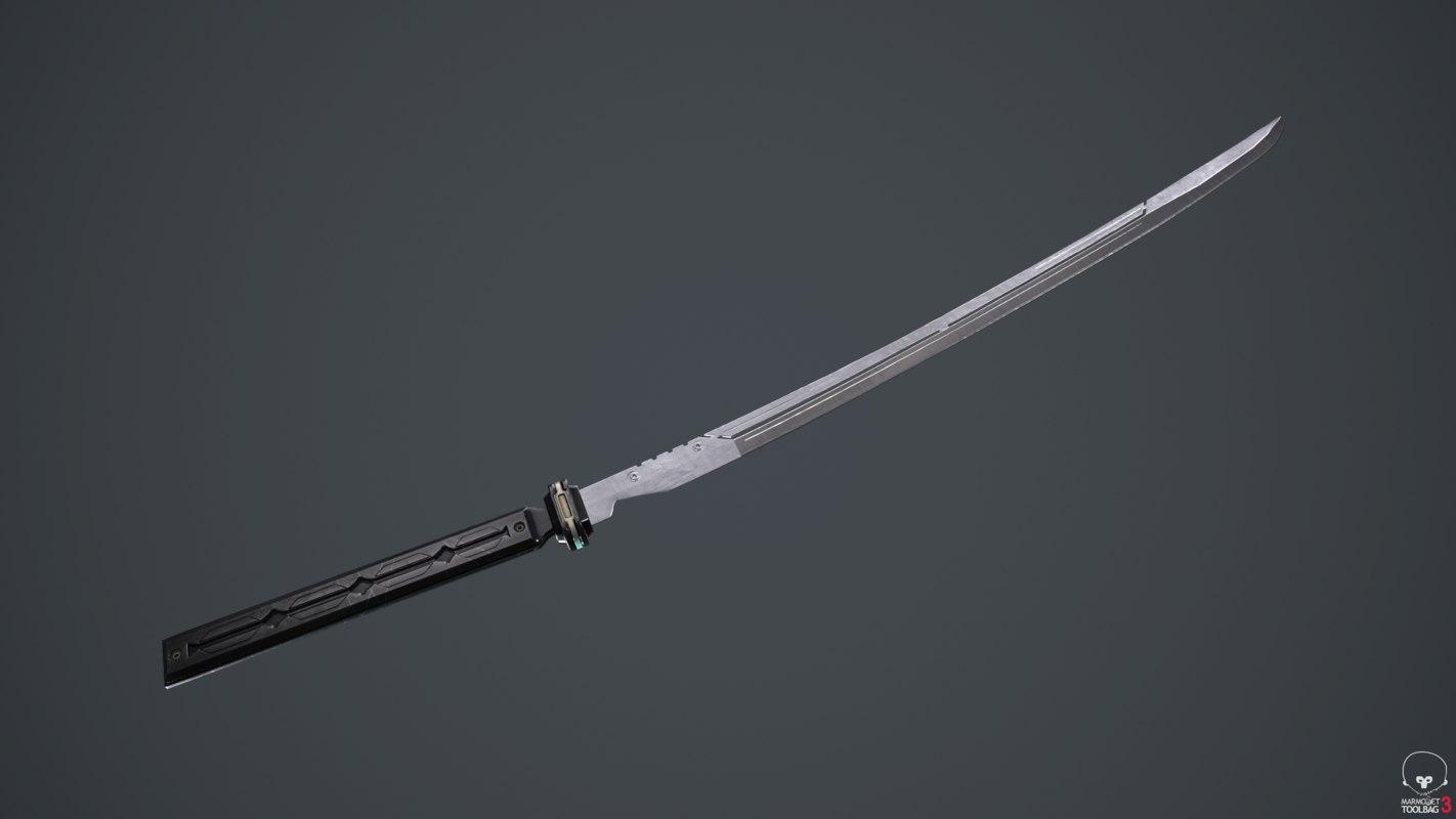 sci-fi sword 3D model