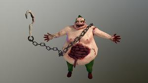 3D evil grandfather assassin