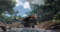 ankylosaur jurassic dinosaur low-poly model