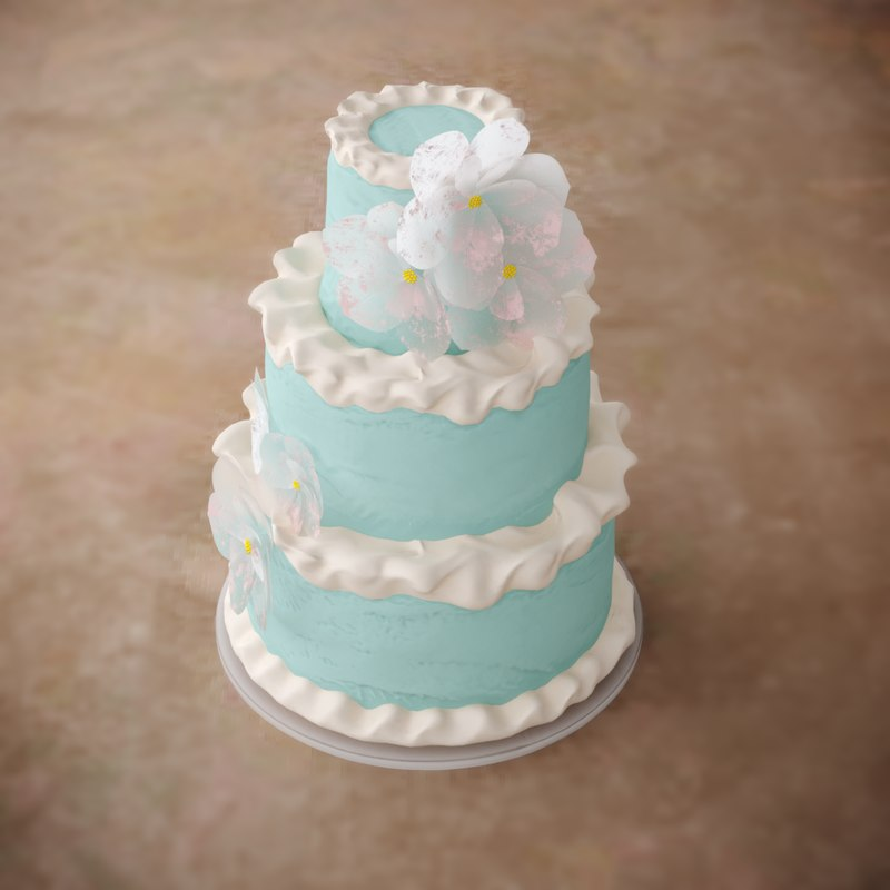 3D cake rose birch
