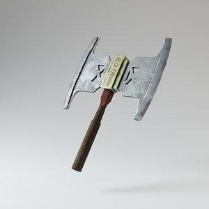ancient axe 3D model