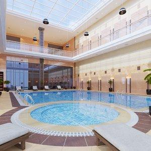 3D real indoor pool model