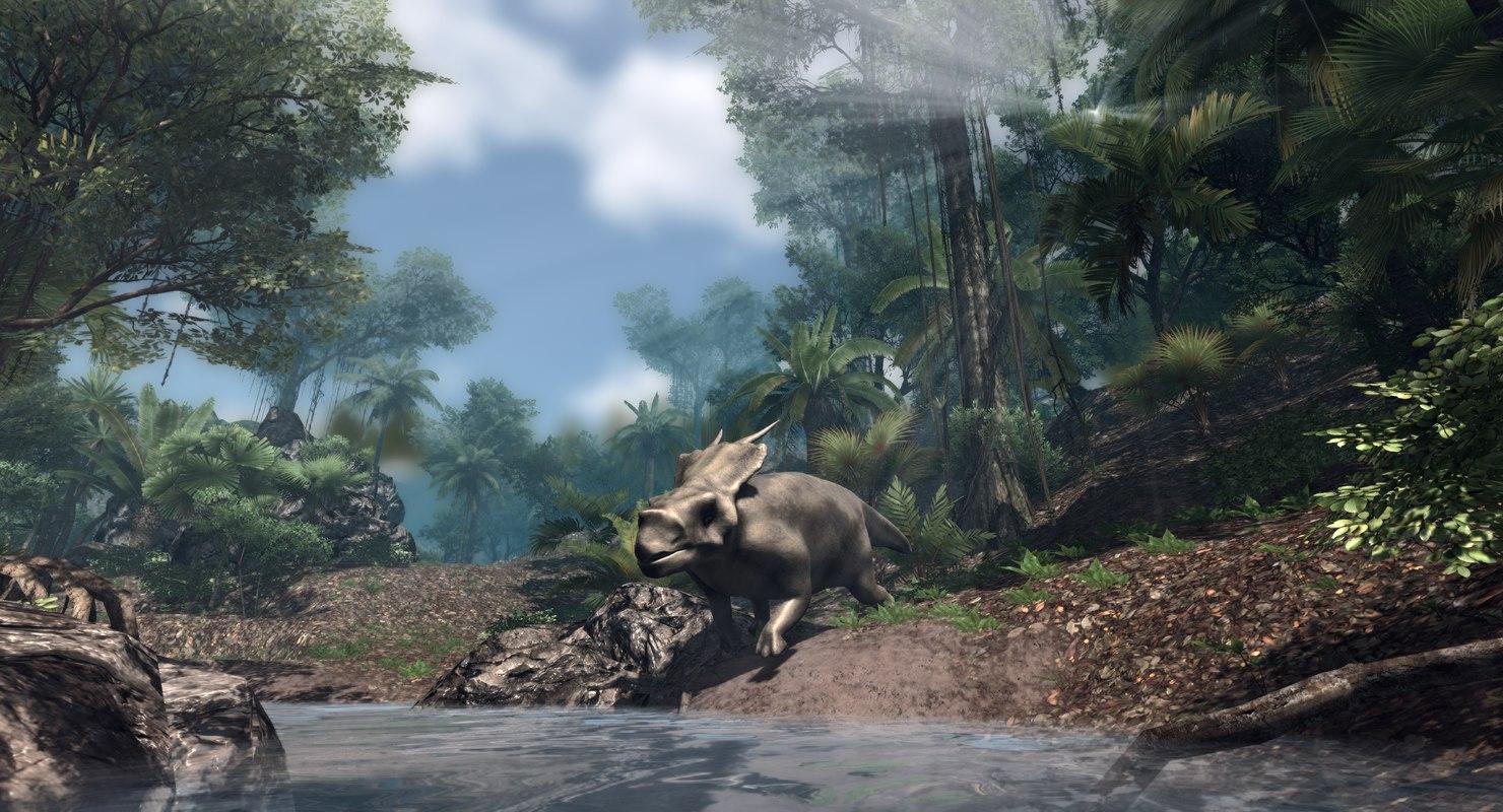 3D achelozaur jurassic dinosaur low-poly