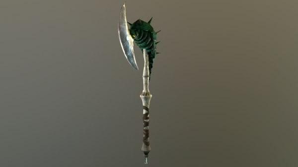 chitinous staff 3D model