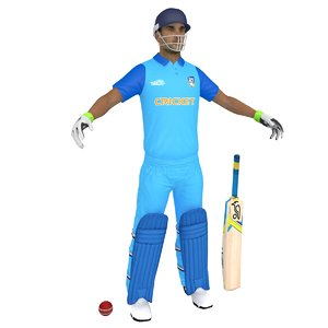 cricket player 3D