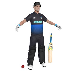 3D model cricket player