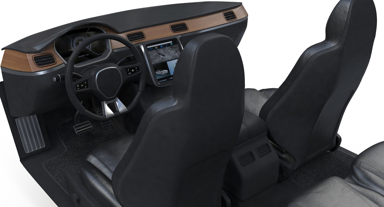 3D generic car interior