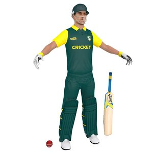 cricket player 3D model