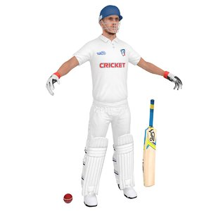 3D cricket player model