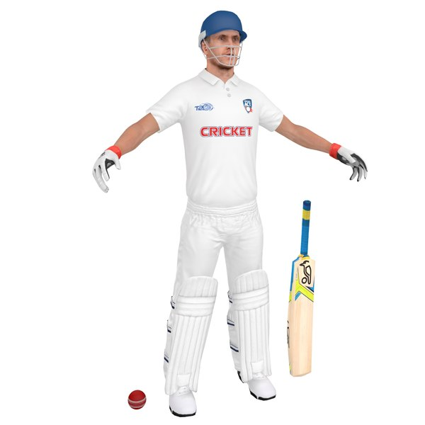 3D cricket player model