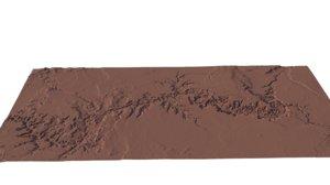 grand canyon large terrain 3D model