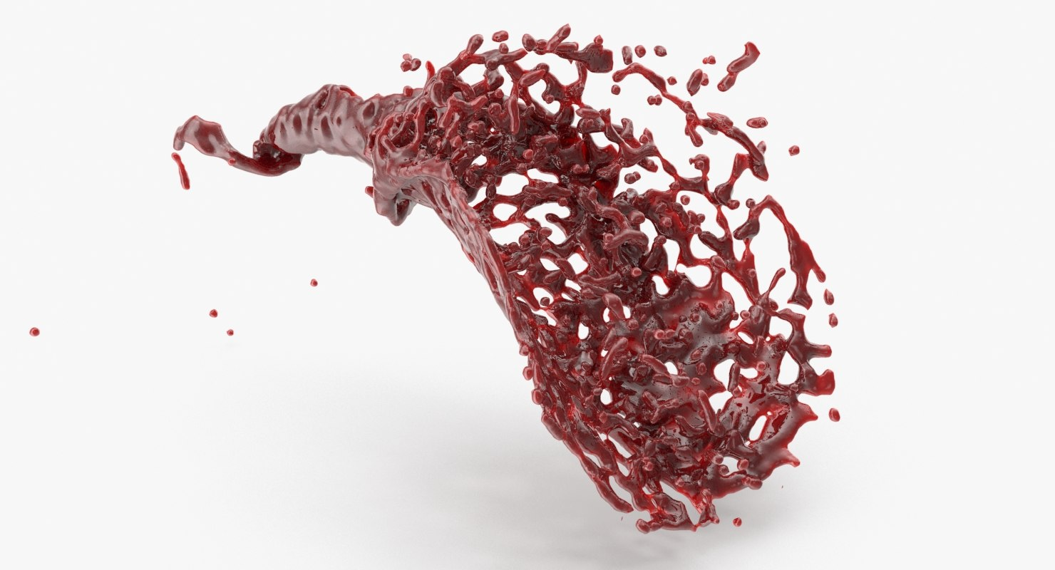 3D blood splash