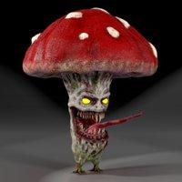 evil mushroom smile model