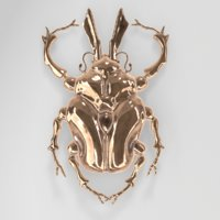 3D golden scarab beetle