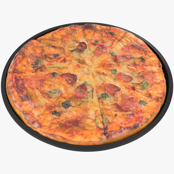 3D pbr pizza 8k
